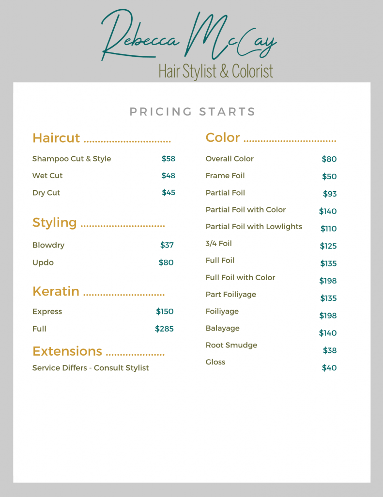 rebecca mccay hair stylist color specialist in the collective salon services